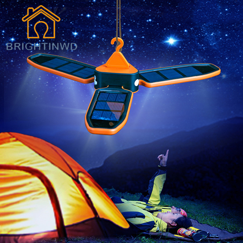 Portable Collapsible LED Light USB Solar Rechargeable Lantern Outdoor Waterproof LED Light Lantern for Traveling/Camping/Hiking<br>