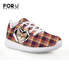 Kitty Cat Cute Children Running Shoes Outdoor Sport Lightweight Breathable Mesh Sneakers Kids Children Strip Print Design Shoe(China)