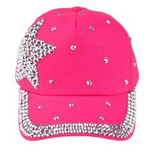 ROMIRUS New Fashion Baby Beanie For Boys Girls Sharp Sun Hat Rhinestone Star Shaped Letter Children Snapback Hat D30(China)