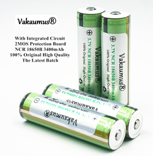 protected 100% original 3.7v ncr 18650b 3400mah 18650 rechargeable battery panasonic batteries /flashlight/portable charger - Vakaumus OfficiaI Store store