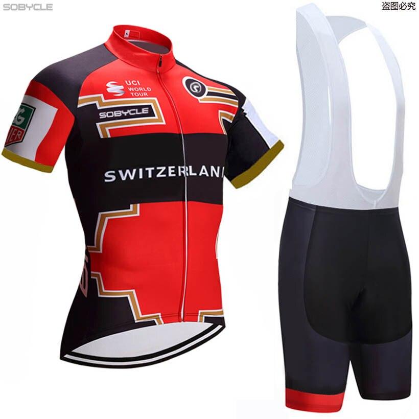 2019 Men team Cycling Jersey Bib shorts Set Mountain Bike Clothes Sportwear F01