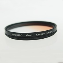 NEW 58mm Rotating Grad Graduated Orange Color Lens Filter for Canon EOS 700D 600D 550D Nikon DSLR SLR Camera(China)