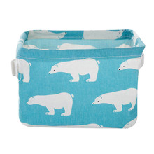 Creative Foldable Storage Bin Closet Toy Box Container Organizer Fabric Basket Collection Container Case Storage Organizers case(China)