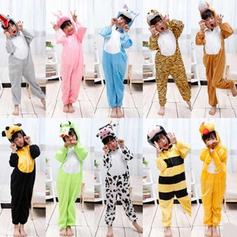 XS-4XL 28 стилей унисекс для взрослых и детей животных Cosplays милый мультфильм  зимние пижамы 1e8aec27aac0c