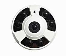 Analog CCTV Camera 360 Degree Wide Angle Fisheye Panoramic Camera Analog Infrared Surveillance Camera 6pcs array Dome Camera(China)