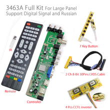 Z.VST.3463.A1 Support Digital signal DVB-C DVB-T DVB-T2 7-key button+Inverter+LVDS cable Universal LCD TV Controller Driver(China)
