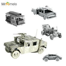 MrPomelo 1908 Ford Model T 3D Metal Model Kit Hummer ATV Tram NewYork Taxi Piece Fun Assemble DIY Models Puzzle Toy for Children