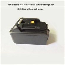 18V Flate type BL1830 BL1840 Replacement electric tool 18650 lithium Battery box and case with PCB and nickle strips