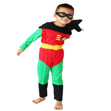 Boy Halloween Costume, Robin Costume, 2-8 Ages Kid Disfraces Carnival, Children Party Cosplay, Long Sleeve Anime Clothing Set