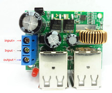 Free Shipping DC 9~14v to 5V 4 USB Car Charger Step-Down Power Supply Module for Phone Table PC