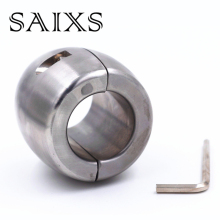 Stainless steel Scrotum Pendant Ball Stretchers Testis Weight penis Restraint  cock Lock Ring 3 Size for choice