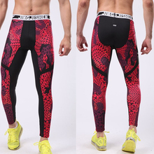 2016 Top 3D Print Compression Running Pants Tight For Men Survetement Football Basketball Training Trousers Gym Fitness Joggers
