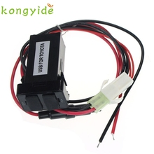 Car Accessory 12V 24V AUX Ports Dashboard Mount Charger 5V For TOYOTA ja17