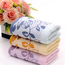 2017 Face towel 34*74cm Plain Dyed Toalhas floral face care breathable Promotion Towel Cotton Wedding Gift 100% Cotton TW141(China)