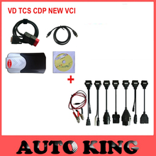 new shell box model vd tcs cdp plus 2015.1 software with Full 8 car cables for cars trucks obd2 diagnostic tool --DHL Free ship
