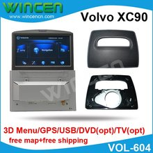 "6.5"" Car DVD GPS Player for Volvo XC90 with 3D Menu, GPS USB, SD DVD, TV  Motorised panel to match Volvo XC90 car"