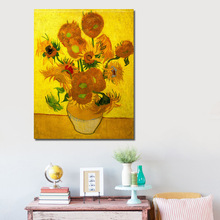 Full Diamond Painting Still Life---Vase With Fifteen Sunflowers Diy Diamond Embroidery Van Gogh Post-Impressionism Works A Gift