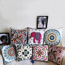 45X45cm Embroidery Cotton New Pillow Cushion No Filling, Sofa Chair Pillow Car Seat Back Cushion Case For New House Gift(China)