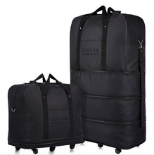 Large Capacity Three Tier Expandable Folding Bag Oxford Cloth Bag Universal Wheel Consignment by Air Travel Bags Luggage Bags