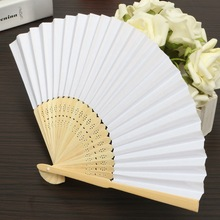 Custom Wedding Fans Personalized White Paper Hand Fan for Wedding Folding Hand Fans Personalized Wedding Favors for Guest 25pcs