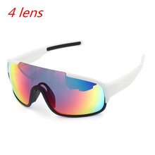 4 Lens Ski Goggles Airsoftsports Cycling Sunglasses  Polarized Men Sport Road Mtb Mountain Bike Glasses Eyewear