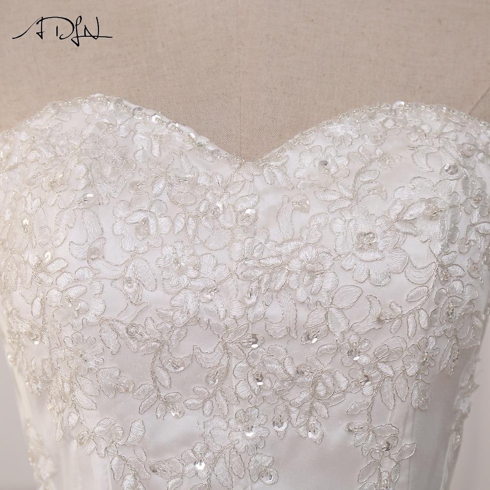 ADLN Wedding Dresses Vestidos de Novia Off the Shoulder Sweetheart Tulle Long Bride Dress Lace Up Back Plus Size In Stock 9