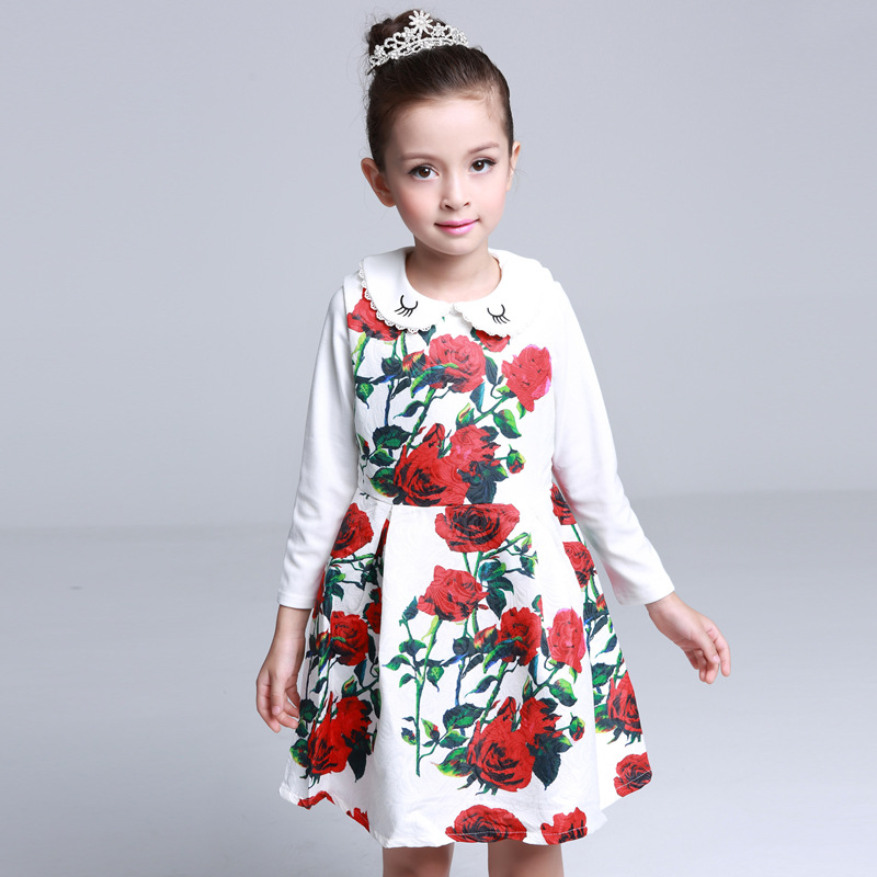 Girls autumn Winter Dress 2016 Brand Children Dress Princess Costume Girls Clothes Kids Dress flower  Baby Girls Dresses<br><br>Aliexpress