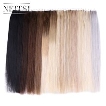 "Neitsi Mini Heart Tape In Human Hair 20"" 2.0g/pc 20pcs/pack Natural Straight Skin Weft Remy Hair Extensions 13 Colors Available"