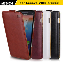 iMUCA Case for Lenovo S960 Case Flip Leather Back Cover Coque for Lenovo VIBE X S960 S968T Protective Silicone Phone Bags Cases(China)