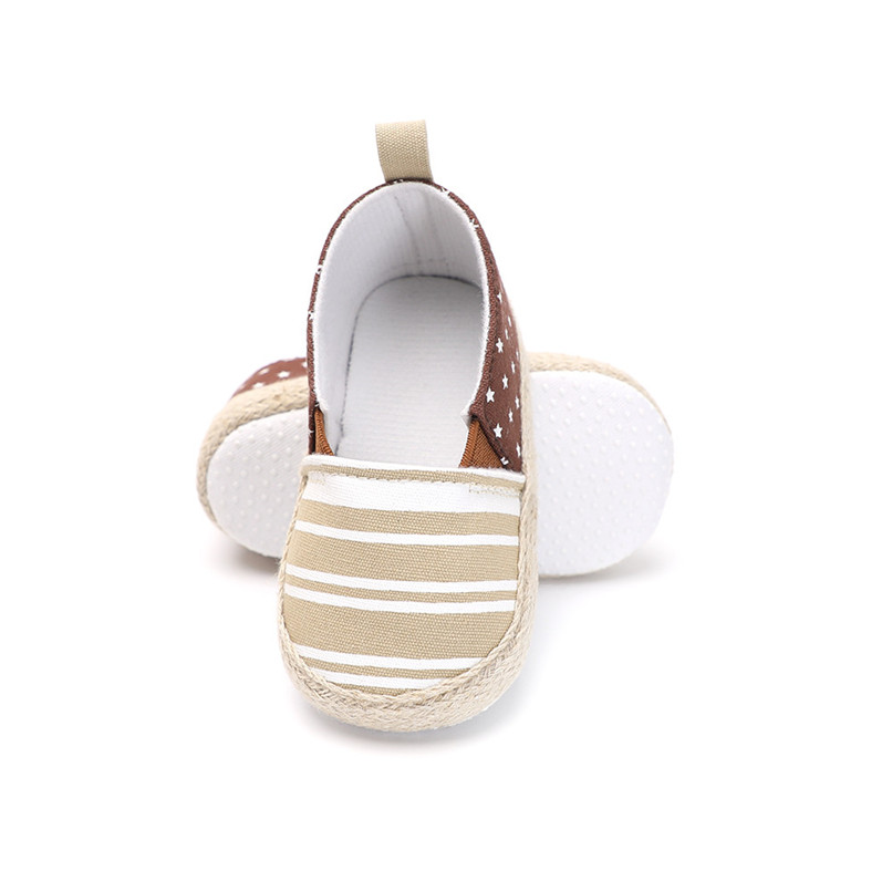 Baby Girl Shoes Toddler Infant Baby Girl Dot Striped Crib Shoes Soft Sole Anti-slip Single Shoes Baby First Walker Shoes M30#F (24)