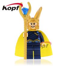 Single Sale Super Heroes Loki Amora Sakaarian Guard Thor Bricks Model Building Blocks Best Collection Toys children XH 655 - Minifigures store