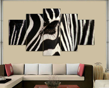 Hot sell free shipping Wall Art Zebra Painting On Canvas Abstract Print Pictures home Decor with framed ready to hung