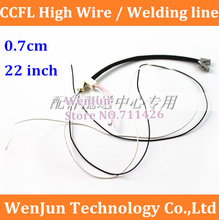 Free Shipping Universal CCFL 0.7cm lamp line, Plug terminal with rubber plug , welding line, Support 22 inches wide LCD Monitor