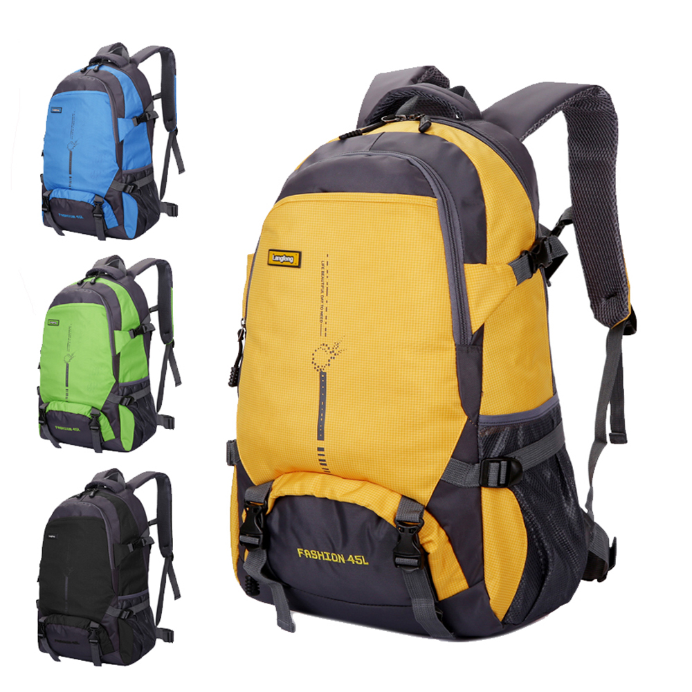 Exercising Thin High Capacity Travel Bag Waterproof Sporting Bag Women Nylon School Bag Men Simple Casual Panelled Backpack<br>