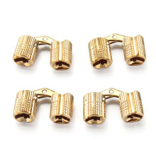 MTGATHER Top Quality 8mm 4pcs Brass Barrel Hinge Invisible Hinge Concealed Hinge For Caravan Worktops Solid And Durable