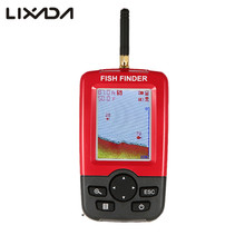 Wireless Fishing Finder Sonar Sensor Transducer Fishfinder LCD Fish Finder Fish Alarm Depth Locator with LED Backlight(China)