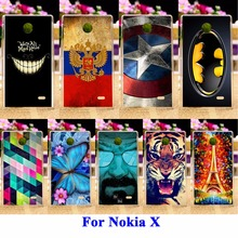 Durable Mobile Phone Cases For Nokia X 1045 A110 RM-980 Normandy Single SIM 4.0 Covers Skin Hood Protector Captain American Bags