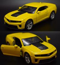 Candice guo alloy car model Chevrolet Camaro Bumblebee racing vehicle motor pull back baby birthday gift christmas present 1pc