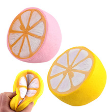 Fashion Kids Adults Toys Simulation Half Lemon Slow Springback Soft Squishy Artificial Lemons Relieve Stress For Gifts F -17 M09
