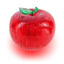 stereo Crystal Apple Puzzle / 3D three-dimensional crystal apple puzzle