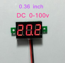 New Mini 0.36 inch DC 0-100v 3 bits Digital Red LED Display Panel Voltage Meter  Voltmeter tester  39%off