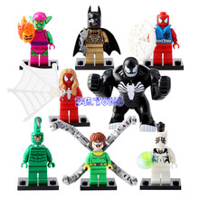 DR.TONG SY632 Spider-Man Scorpion The Amazing Spiderman Woman Green Goblin White Tiger Mini Dolls Building Blocks Bricks Toys