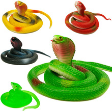 75cm Emulational Snake Rubber Toys dolls Funny Halloween toy gift Gag Playing Jokes Toys Animal cobra Toys for children boy