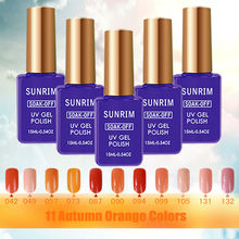 Cheap Gel Nail Polishes 11 Orange Global UV Nagel Gel Lucky 15ml Acrylic Paint Nail Polish Shadow Cola Para Unha em Gel Manicure