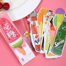 30 pcs/box Dessert & Drink paper bookmark stationery bookmarks book holder message card school supplies papelaria(China)