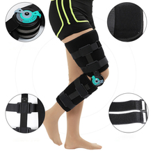 Adjustable Fit Hinged Open Knee Brace Pre/post-operative Aid Control Flexion&Extension Movements, Injured, Weak Arthritic Knees(China)