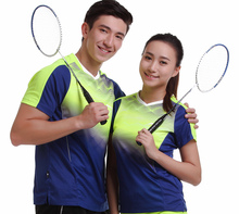 Running Gym Sportswear Quick Dry breathable badminton shirt,Women/Men table tennis clothes short sleeve fitness V Neck T Shirts(China)