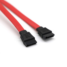 45cm Serial ATA SATA 2 Cable Lead Hard Drive Data  Red SATA II data cables used for connecting serial ATA hard drive to serial