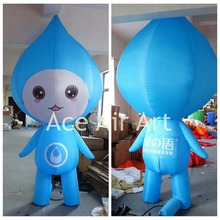 inflatable advertising item Blue inflatable drops boy  with tears for water resources protection On Earth day