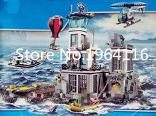 New 02006 city series the Prison Island Model Building Blocks set Compatible 60130 Classic house Architecture Toys for children